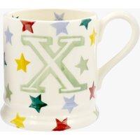 Polka Stars Alphabet X 1/2 Pint Mug