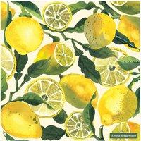 Vegetable Garden Lemons Cocktail Napkins