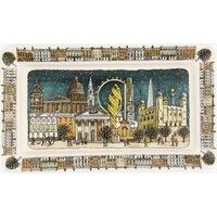 London at Night Medium Oblong Plate