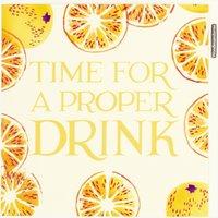 Time for a Proper Drink Lemons Card