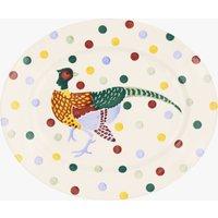 Seconds Polka Dot Pheasant Medium Oval Platter