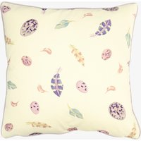 Purple Egg & Feather Cushion