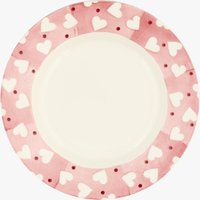Pink Hearts & Dots 8 1/2 Inch Plate