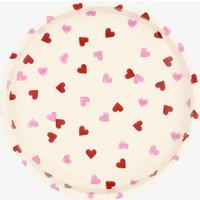 Pink Hearts Round Tin Tray