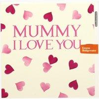 Pink Hearts Mummy I Love You Card.