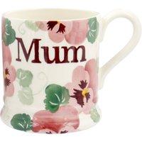 Pink Pansy 'Mum' 1/2 Pint Mug.