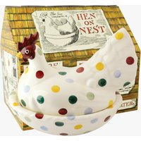 Polka Dot Hen on Nest Boxed