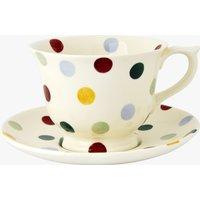 Polka Dot Large Teacup & Saucer Set