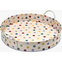 Polka Dot Large Handled Tin Tray