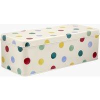 Polka Dot Long rectangular Tin