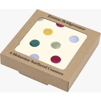 Polka Dot Folk Border Set of 4 Coasters