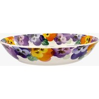 Purple Pansy Medium Pasta Bowl