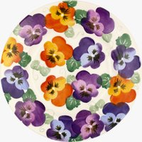 Seconds Purple Pansy 8 1/2 Plate