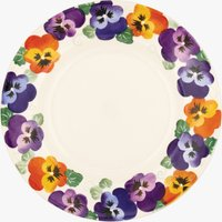 Seconds Purple Pansy 10 1/2 Plate