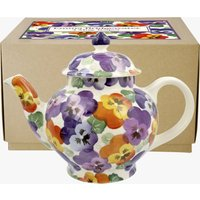 Purple Pansy 4 Mug Teapot Boxed
