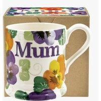 Purple Pansy 'Mum' 1/2 Pint Mug Boxed