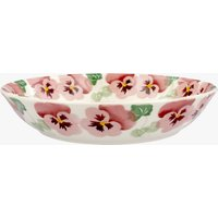 Pink Pansy Medium Pasta Bowl
