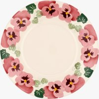 Seconds Pink Pansy 8 1/2 Plate