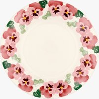 Seconds Pink Pansy 10 1/2 Plate