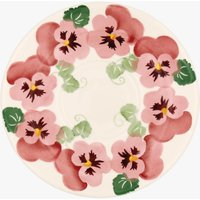 Seconds Pink Pansy Large Saucer