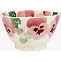 Seconds Pink Pansy Small Small Old Bowl