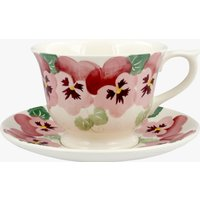 Pink Pansy Large Teacup & Saucer Boxed