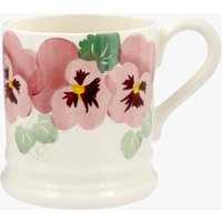 Pink Pansy Row 1/2 Pint Mug