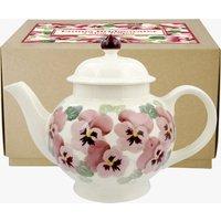 Pink Pansy 4 Mug Teapot Boxed