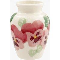 Pink Pansy Row Mustard Vase