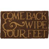 Reversed Black Toast Coir Doormat