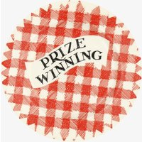 Red Gingham Prize Winning 6 1/2 Inch Plate