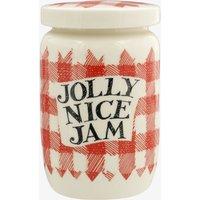 Red Gingham Jolly Nice Jam Medium Jam Jar