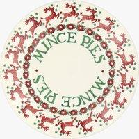Reindeer Border 8 1/2 Mince Pie Plate