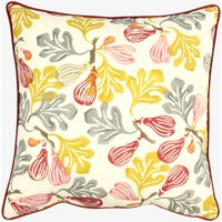 Red & Ochre Figs Cushion