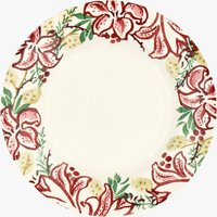 Seconds Red Stargazer Lily  10 1/2  Plate