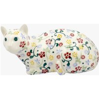 Spring Floral Lying Down Cat Right