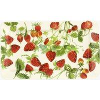 Vegetable Garden Strawberries Medium Oblong Plate