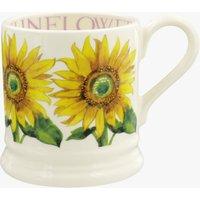 Seconds Flowers Sunflower 1/2 Pint Mug
