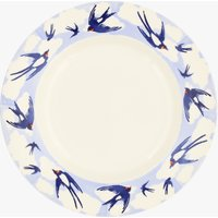 Blue Swallows In The Clouds 8 1/2 Inch Plate
