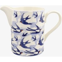 Blue Swallows In The Clouds Medium Straight Jug