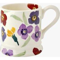 Purple Wallflower 1/2 Pint Mug