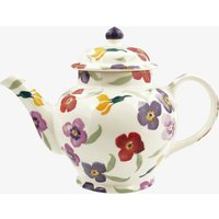 Seconds Purple Wallflower 3 Mug Teapot
