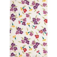 Purple Wallflower Tea Towel.