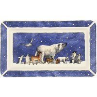 Winter Animals Medium Oblong Plate