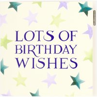 Lots of Birthday Wishes Star Card
