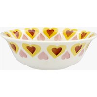Yellow Hippy Hearts Cereal Bowl