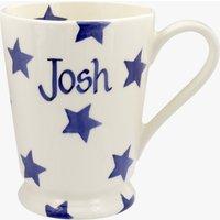 Personalised Blue Star Cocoa Mug.