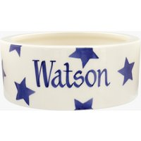 Personalised Blue Star Small Pet Bowl.