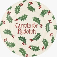 Personalised Christmas Holly 8 1/2 Plate