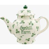 Personalised Clover Flower 4 Mug Teapot